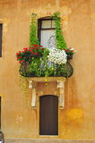 A nice balcony. With flowers royalty free stock image
