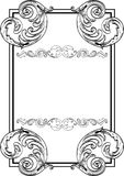 Nice  baroque frame Royalty Free Stock Photo