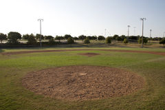 Nice baseball practice field Stock Photos