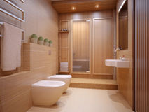 Nice bathroom. In modern flat Royalty Free Stock Photos