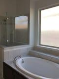 Nice bathroom in a new house stock photos