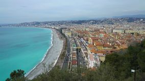 Nice, Bay of angels, Provence, C te d`azur, France. Nice, Bay of angels Baie-des-Anges, Provence, C te d`azur, France stock video footage