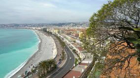 Nice, Bay of angels, Provence, C te d`azur, France. Nice, Bay of angels Baie-des-Anges, Provence, C te d`azur, France stock video