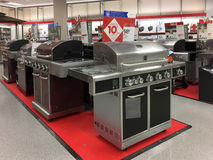 Nice BBQ grill for sale at store Stock Image