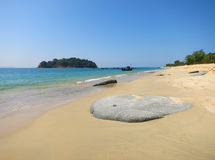 Nice beach in Burma Stock Image