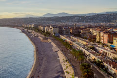 Nice, beach. Nice, cote`d Azur, beach in the city royalty free stock photo