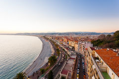 Nice beach day view, France Stock Image