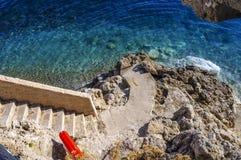 Nice beach in Monetcarlo stock photos