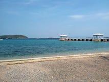 Nice beach royalty free stock photo