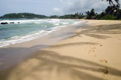 Nice beach in Sri Lanka Royalty Free Stock Image