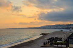Nice beach at sunset. Stock Images