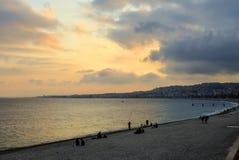 Nice beach at sunset Royalty Free Stock Photos
