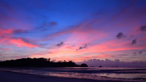 Nice beach and sunset sky in Payam island Royalty Free Stock Photography