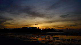 Nice beach and sunset sky in Payam island Stock Photos