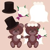 Nice bears bridegroom and bride Stock Photography