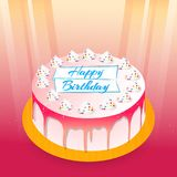 Happy Birthday Cards or Poster or Abstract. Nice and beautiful abstract or poster for Birthday with nice and creative cake design illustration royalty free illustration