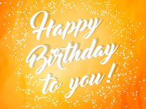 Happy Birthday Cards or Poster or Abstract. Nice and beautiful abstract or poster for Birthday with nice and creative design illustration stock illustration
