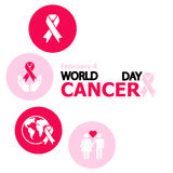 Nice and beautiful  abstract for World Cancer Day with nice and creative symbol illustration in a red colour in a grey shade Stock Photo