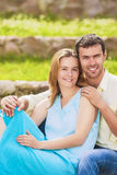 Nice and Beautiful Caucasian Couple Having Great Time Together a Stock Image