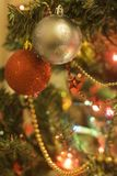 Nice Beautiful christmas ornaments on tree Stock Photography