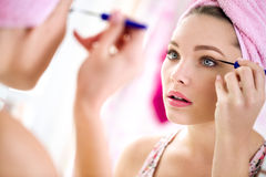 Nice beautiful girl make up Stock Photos