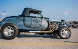 Nice beautiful view of  old classic vintage retro customized street rod car Stock Photos