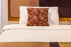 Nice Bed in typical contemporary setting Royalty Free Stock Photos