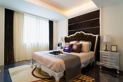 Nice bedroom Stock Image