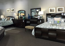 Nice bedroom furniture selling Stock Images