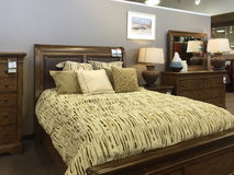 Nice bedroom furniture selling Royalty Free Stock Photography