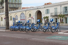 Nice bicycle rental Royalty Free Stock Photography