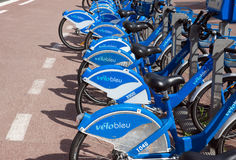 Nice - Bicycles Royalty Free Stock Photography