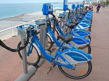 Nice - Bicycles Royalty Free Stock Photos