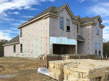 Nice big  new  house construction Royalty Free Stock Images