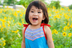 Nice big smile from asian children Royalty Free Stock Photos