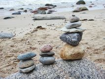 Baltic sea coast and beautiful  stones , Lithuania Royalty Free Stock Photography