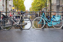 Nice bikes. Some nice urban bikes in the city Stock Photography