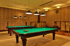 Nice billiards room Royalty Free Stock Image