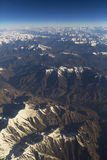 Nice of bird eye view of Himalaya range on the way to Leh Ladakh india. Royalty Free Stock Image