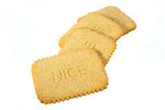 Nice Biscuits. Over a white background Royalty Free Stock Photo