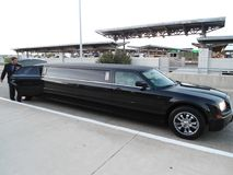 A nice black limousine stock photo