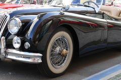 Oldtimer car. Nice black oldtimer car jaguar Royalty Free Stock Photography