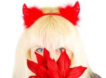 Nice blond Evil girl Stock Photo