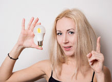 Nice blonde visited idea Royalty Free Stock Photo