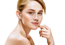 Nice blonde woman with make up Royalty Free Stock Photo