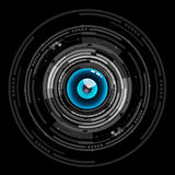 Nice blue eyeball digital technology icon Stock Photos