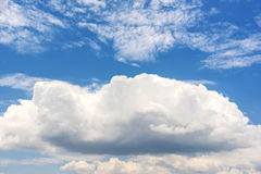 Nice blue sky and cloud stock photo