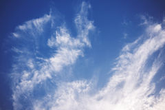 Nice Blue Sky and Cloud Background royalty free stock image