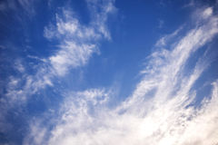 Nice Blue Sky and Cloud Background stock photo