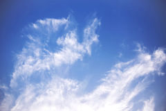 Nice Blue Sky and Cloud Background royalty free stock images